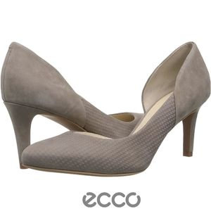 ECCO Pumps Taylor Half D'orsay Gray Heels 8 Heels
